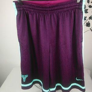 Nike dri fit men's short purple/green large